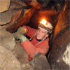 Caving in the Elbe Sandstone Mountains, Saxony, Germany