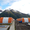 Fly camp of Castle Resource´s Granduc project, Golden Triangle, British Columbia, Canada