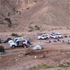 Setting up camp in a remote valley in the Sultanate of Oman