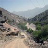 Mountain road through the Semail Ophiolite, Sultanate of Oman
