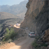 Tight and winding mountain road in the Sultanate of Oman
