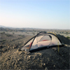 Camp with panorama in the Semail Ophiolite, Sultanate of Oman