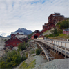 Processing plant of the historic Kennecott Mining District, Alaska, USA