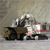 300t-truck and excavator in Bingham Canyon Mine, Utah, USA